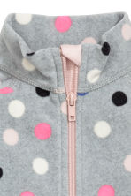Fleece jacket - Grey/Spotted - Kids | H&M CN 3
