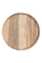 Round wooden tray - Beige - Home All | H&M 2