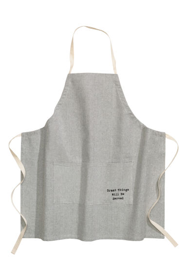 Apron - Grey - Home All | H&M GB
