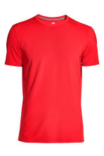 Short-sleeved sports top - Red - Men | H&M CN 2