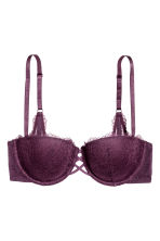 Reggiseno balconcino in pizzo - Viola scuro - DONNA | H&M IT 2