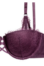 Reggiseno balconcino in pizzo - Viola scuro - DONNA | H&M IT 3