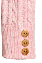 Cable-knit leggings - Light pink marl - Kids | H&M CN 2
