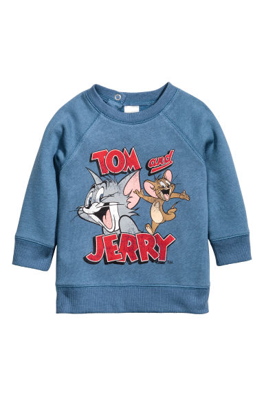Printed sweatshirt - Blue/Tom and Jerry -  | H&M CN 1