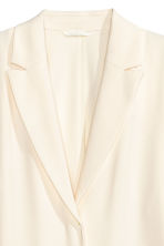 Crêped coat - Natural white - Ladies | H&M CN 3