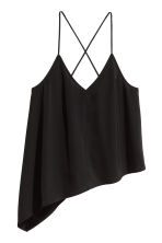 Asymmetric top - Black - Ladies | H&M CN 2