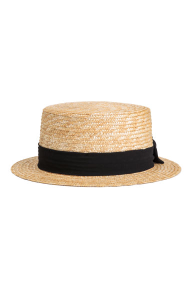 Straw hat - Natural - Ladies | H&M GB 1