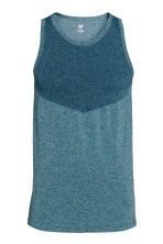 Seamless sports top - Petrol marl - Men | H&M CN 2