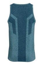 Seamless sports top - Petrol marl - Men | H&M CN 3