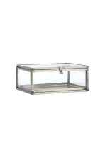 Small clear glass box - Silver - Home All | H&M CN 1