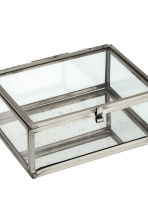 Small clear glass box - Silver - Home All | H&M CN 2