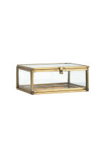 Small clear glass box - Gold - Home All | H&M CN 3