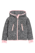 Hooded fleece jacket - Dark grey marl - Kids | H&M CN 2