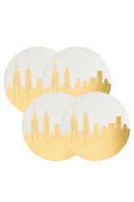 4-pack coasters - White/New York - Home All | H&M CN 2