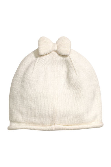 Hat with a bow - Natural white - Kids | H&M CN 1