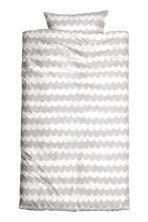Duvet cover set - Light grey/Patterned - Home All | H&M CN 2