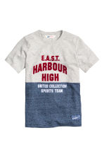 Printed T-shirt - Grey marl - Kids | H&M CN 2