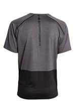 Short-sleeved sports top - Dark grey/Black - Men | H&M CN 3