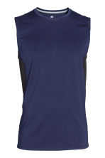 Sports top - Dark blue - Men | H&M CN 2
