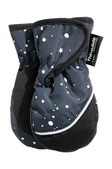 Ski mittens - Dark grey/Patterned -  | H&M CN