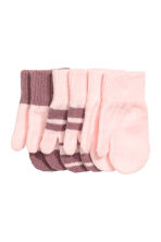 3-pack mittens - Light pink -  | H&M CN 1