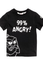 T-shirt, 2 pz - Nero/Angry Birds - BAMBINO | H&M IT 3