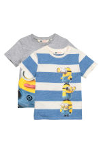 2-pack T-shirts - Grey/Minions - Kids | H&M CN 2