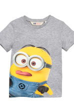 2-pack T-shirts - Grey/Minions - Kids | H&M CN 4