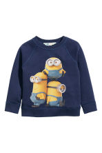Sweatshirt with a motif - Dark blue/Minions - Kids | H&M CN 2