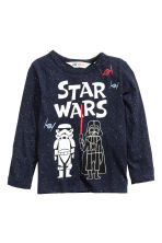 2-pack long-sleeved T-shirts - Blue/Star Wars - Kids | H&M CN 3