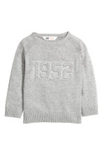 Fine-knit jumper - Grey marl - Kids | H&M CN 2