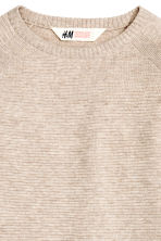 Fine-knit jumper - Light beige marl - Kids | H&M CN 3