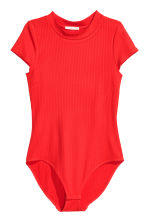 Ribbed body - Red - Ladies | H&M CN 2