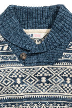 Shawl-collar jumper - Blue/Patterned - Kids | H&M CN 3
