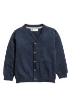 Pima cotton cardigan - Dark blue - Kids | H&M CN 2