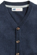 Pima cotton cardigan - Dark blue - Kids | H&M CN 3