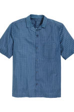 Pyjamas with shirt and shorts - Blue/Patterned - Men | H&M CN 3