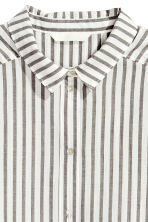 Cotton shirt - Dark grey/Striped - Ladies | H&M CA 3