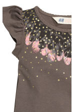 Printed top - Dark mole/Feathers - Kids | H&M CN 3