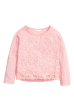 Lace top - Light pink -  | H&M CN 2