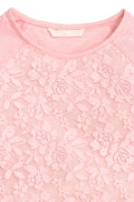 Lace top - Light pink -  | H&M CN 3
