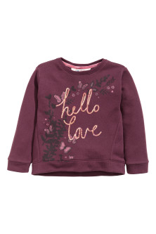 Sweatshirt with sequins
