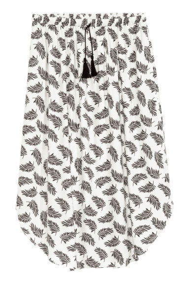 Drawstring skirt - White/Feathers - Ladies | H&M CN 1