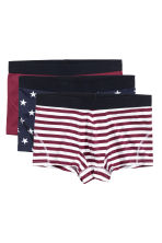 3-pack boxer shorts - Burgundy/Star - Men | H&M CN 1