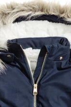 Padded parka - Dark blue - Kids | H&M CN 3