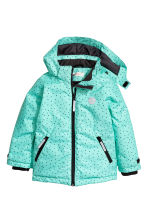 Padded winter jacket - Mint green/Spotted - Kids | H&M CN 2