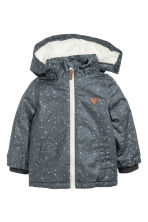 Parka in cotone coated - Grigio scuro/fantasia -  | H&M IT 2