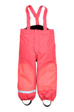 Outdoor trousers with braces - Neon pink -  | H&M CN 2