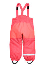 Outdoor trousers with braces - Neon pink -  | H&M CN 3