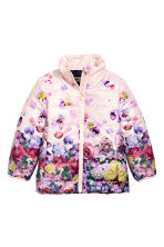 Lightweight jacket - Light pink/Floral -  | H&M CN 2